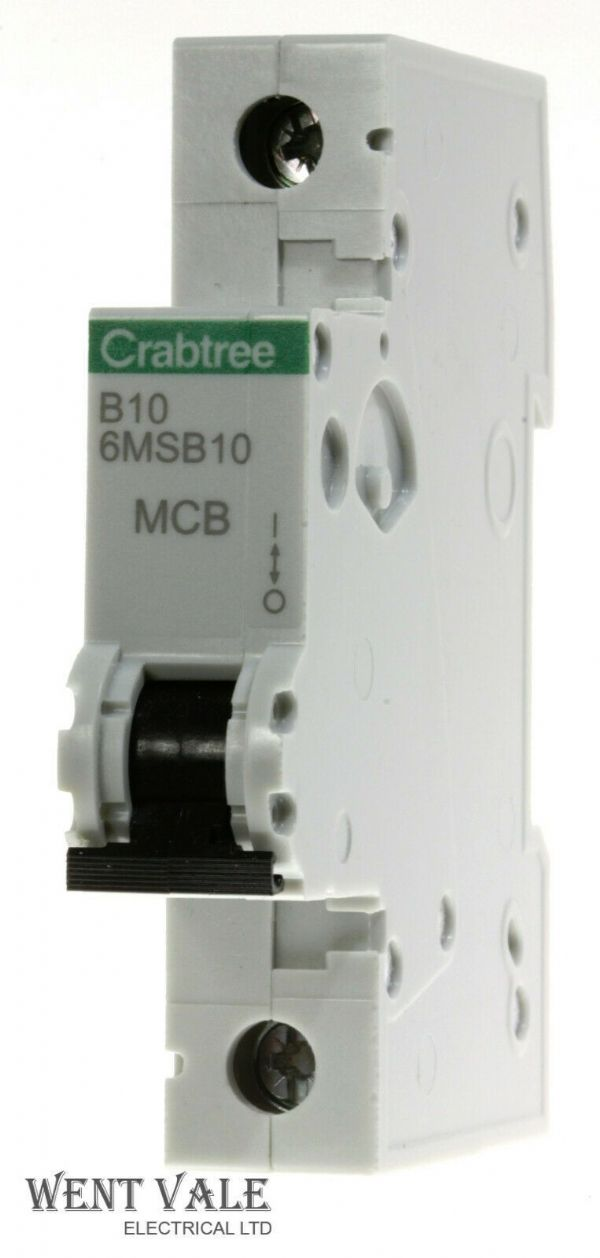 Crabtree Loadstar - 6MSB10 - 10a Type B Single Pole MCB Latest Style Unused